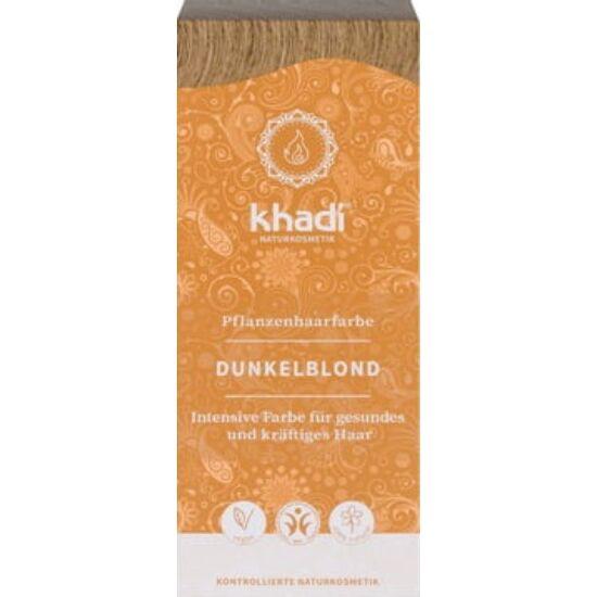 Khadi Növényi hajfesték por - sötétszőke 100g