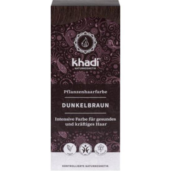 Khadi Növényi hajfesték por - sötétbarna 100g