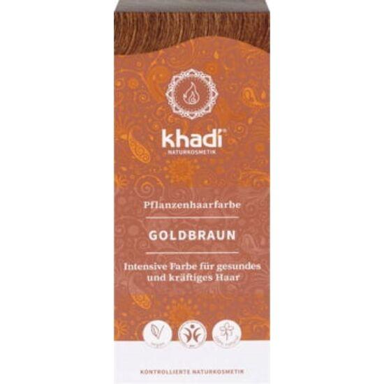 Khadi Növényi hajfesték por - aranybarna 100g