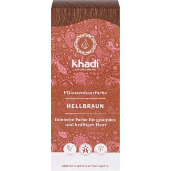 Khadi Növényi hajfesték por - világosbarna 100g