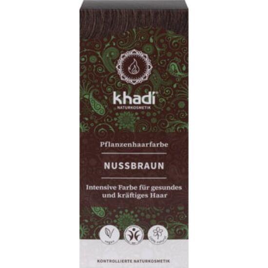 Khadi Növényi hajfesték por - természetes mogyoróbarna 100g