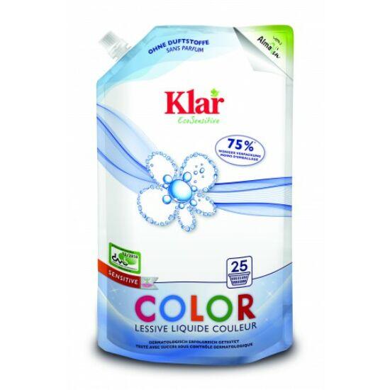 Klar Color Szenzitív folyékony mosószer színes ruhákhoz - 25 mosásra 1,5L