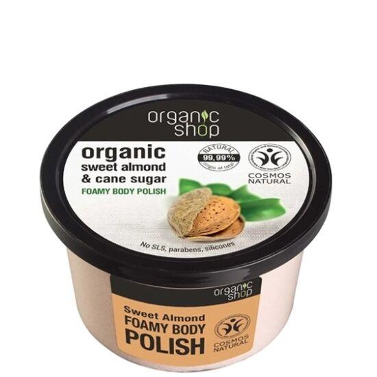 Organic Shop Testpolír hab Édes mandula 250ml