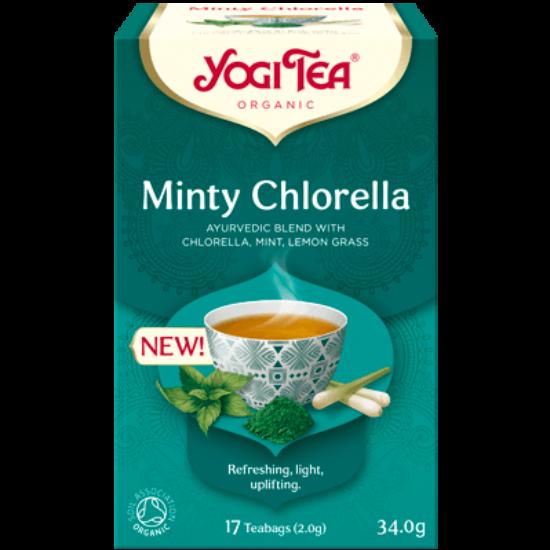 Yogi Tea Mentás bio tea chlorella algával, 17 filter x 2.2g (37.4g)
