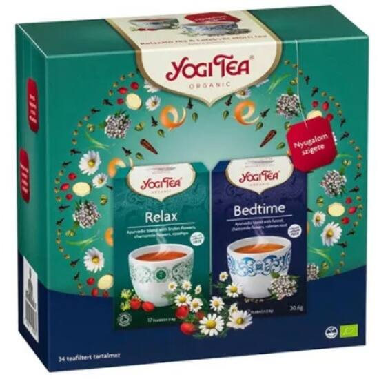 Yogi Ajándékcsomag Yogi teákkal - Nyugalom szigete szett 2 x 17 filter (61,2g)