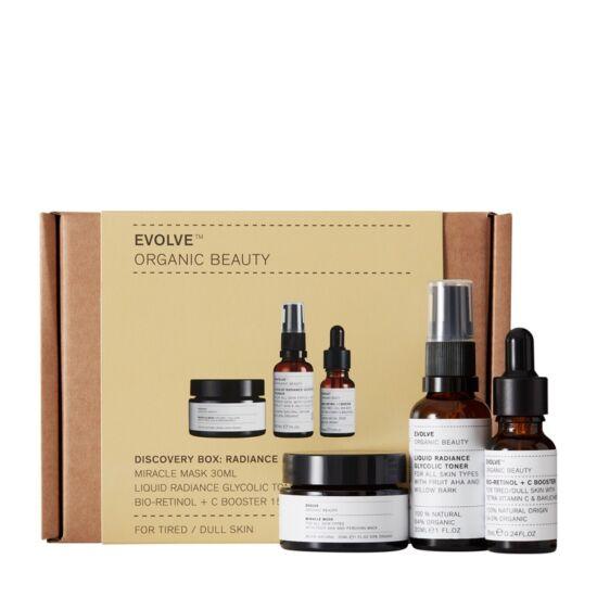 Evolve Organic Beauty Bőrápoló trió csomag a ragyogó bőrért
